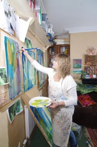 Tessa Jane in her studio