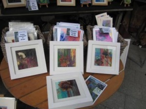 My work on display at the market.