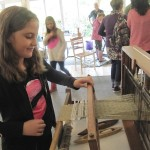 table loom being used